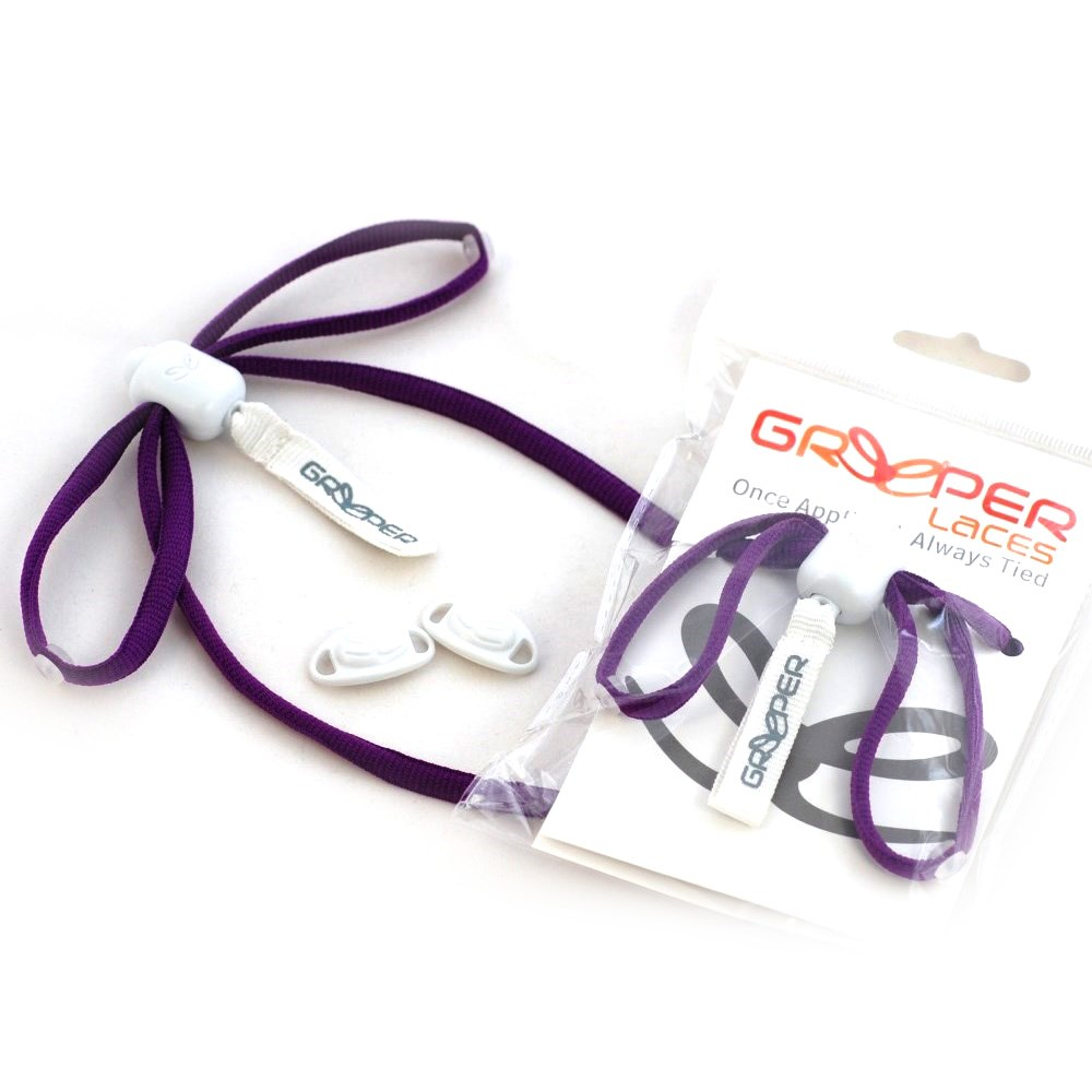 greeper always sports shoe laces purple